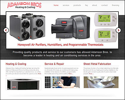 Adamson Bros. Responsive Website