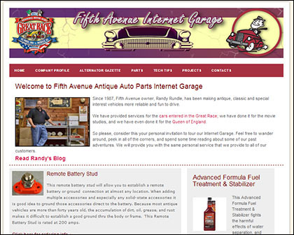 Fifth Avenue Internet Garage Website