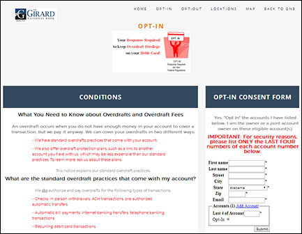 Girard National Bank Secure Website and Website Application