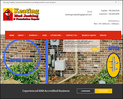 Keating Mud Jacking Responsive WEbsite