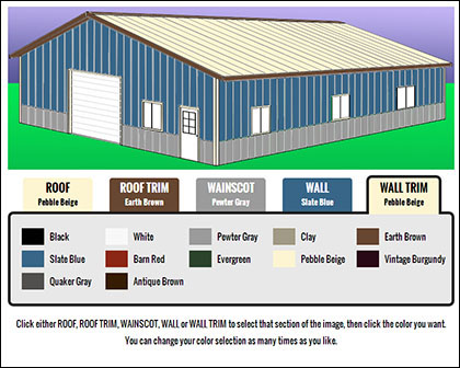 Kentucky Steel Color Selection Website Application