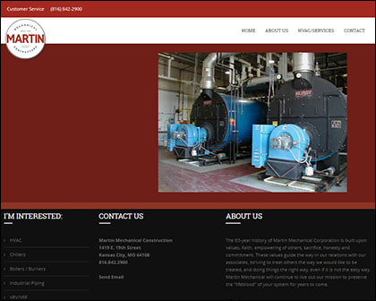 Martin Mechanical Construction Responsive Website