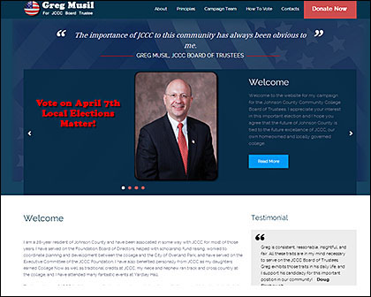 Greg Musil Campaign Website