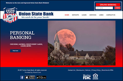 Union State Bank Responsive Website